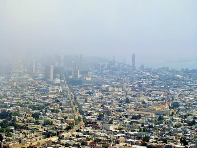 View of Twin Peaks - San Fransisco - California - USA