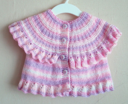 Knitting Pattern for Ruffle Baby Vest ~ Pure Craft