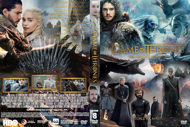 Game of Thrones Season 8 DVD DVD Cover