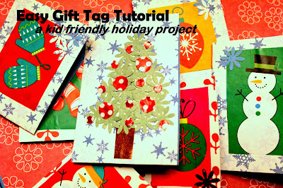 Reuse old Christmas wrapping paper and make gift tags
