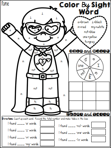 Color Words Worksheets First Grade. Color. Best Free