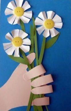 Идеи открыток к 8 Марта из бумаги для детей