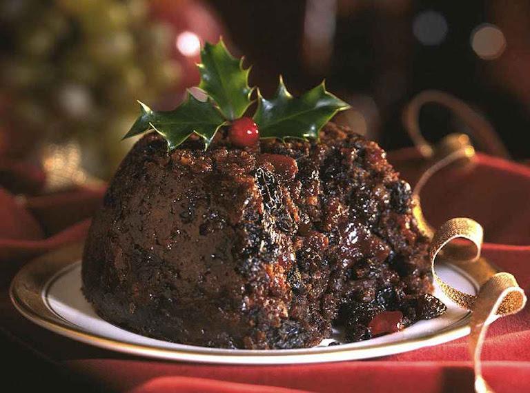 Christmas pudding inglês