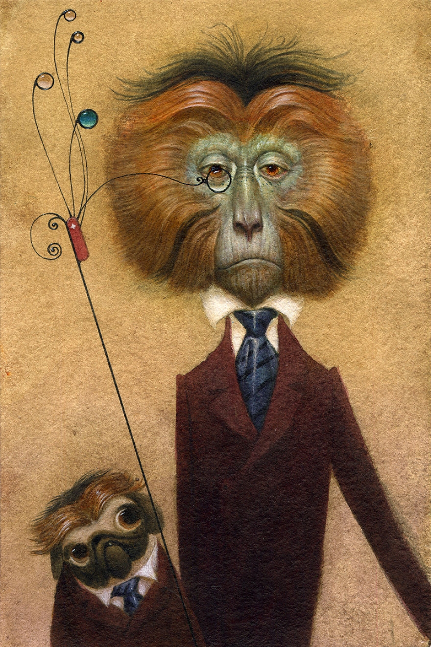 13-Swiss-Army-Monocle-Bill-Carman-Surreal-Art-that-Speaks-to-the-Artist-as-he-Paints-www-designstack-co