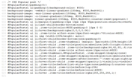 CSS Widget Popularpost Blogger