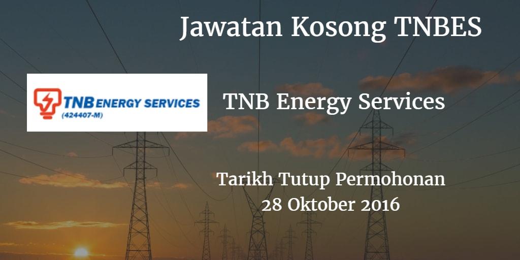 Jawatan Kosong TNBES 28 Oktober 2016
