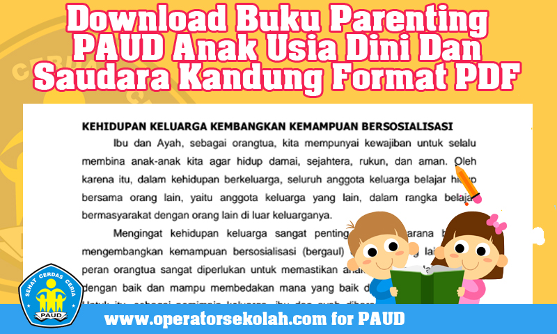 Download Buku Parenting PAUD Anak Usia Dini Dan Saudara Kandung Format PDF