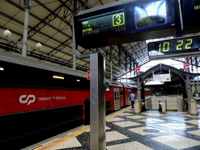 Estación de trenes Liboa-Rossio, Portugal