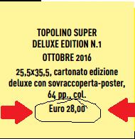 topolino super deluxe edtion prezzo