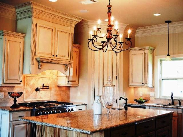 best wall paint color for cream kitchen cabinets