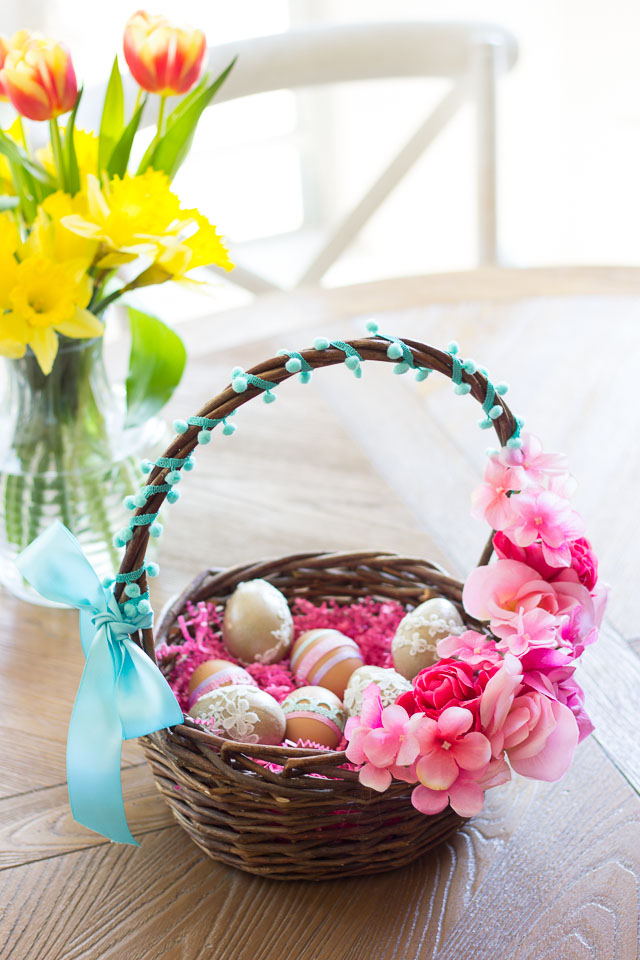 Thrifty Diy Floral Easter Baskets Design Improvised