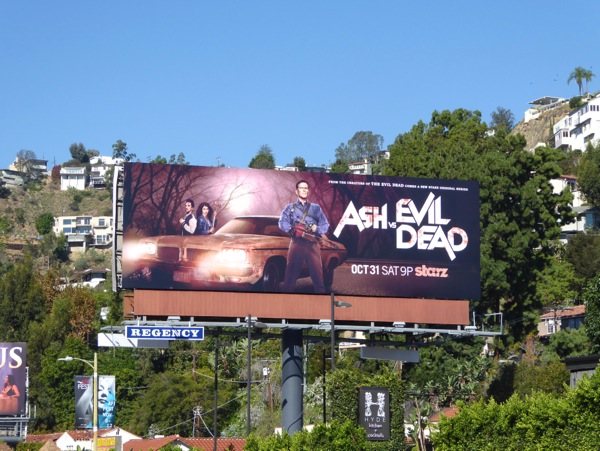 Ash vs Evil Dead series launch billboard