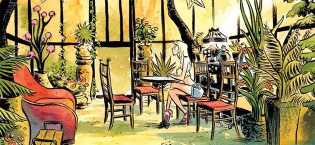 Detalle 'Como hablar con chicas en fiestas', de Neil Gaiman