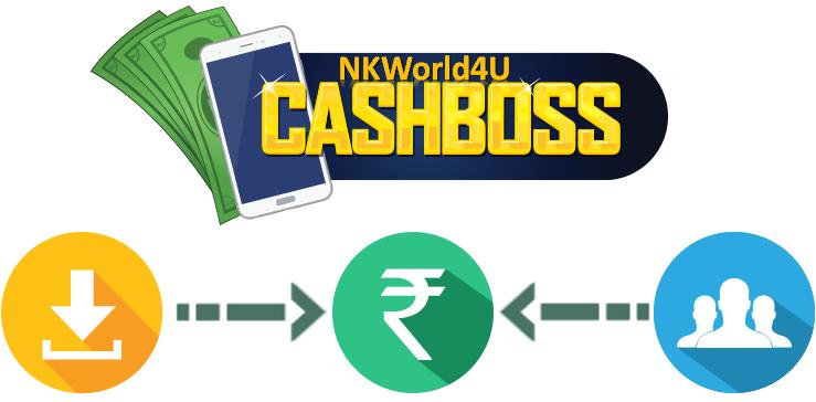 Cashboss free recharge app logo http://nkworld4u.blogspot.in/