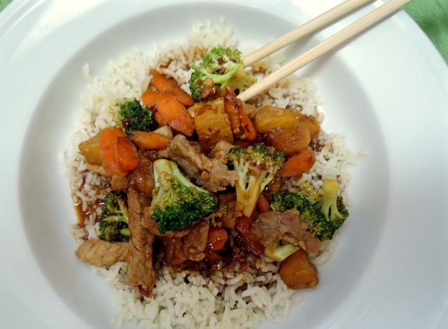 The Briny Lemon: Pork and Pineapple Stir-Fry with Sweet and