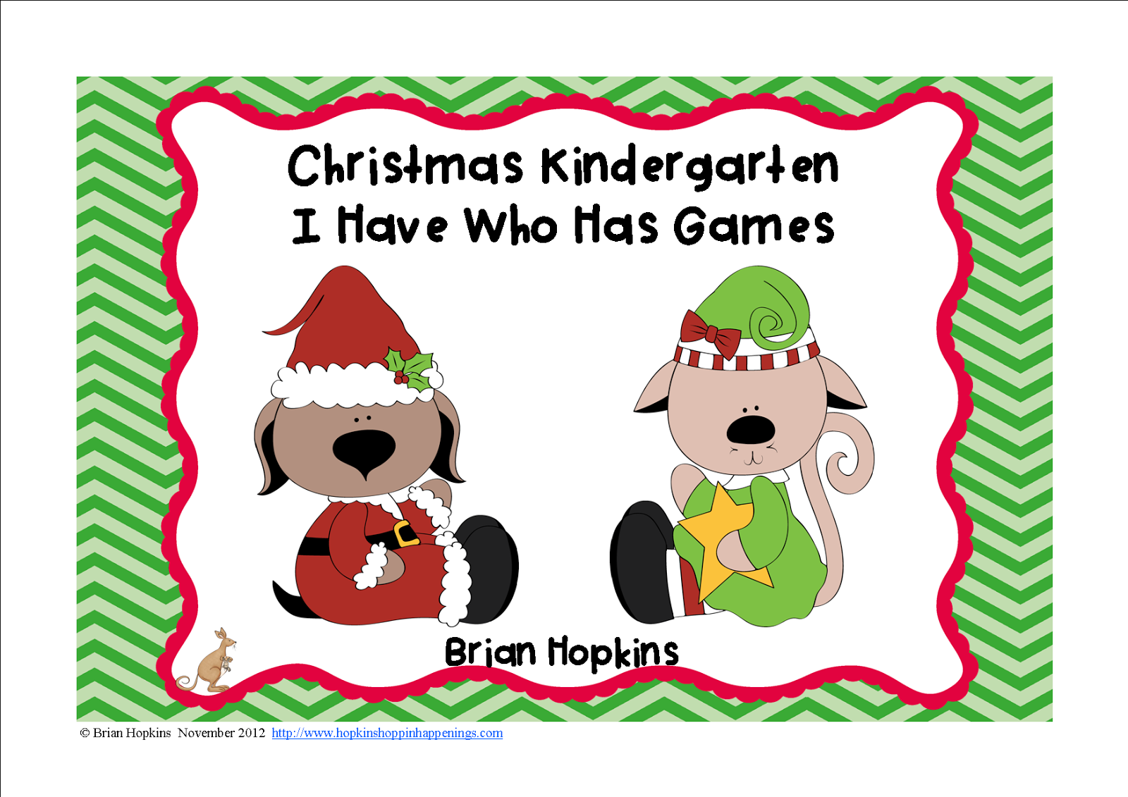 Christmas Kindergarten I Have Who Has Games