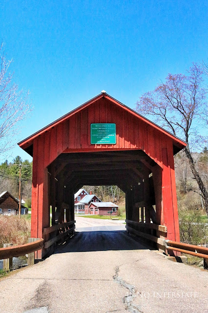 48 No Interstate back roads cross country coast-to-coast road trip Vermont red covered bridge