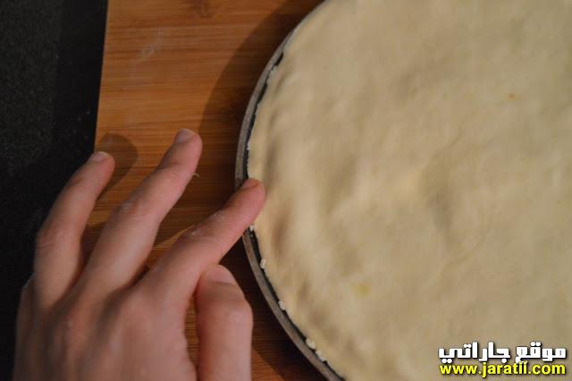 خبز محشي في المقلاة