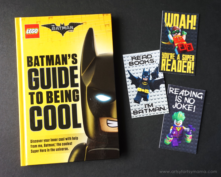 image about Lego Batman Printable titled Totally free Printable LEGO Batman Bookmarks artsy-fartsy mama