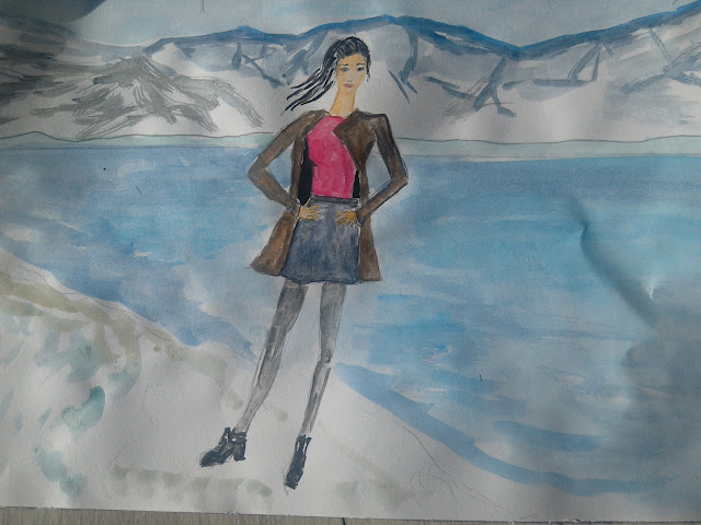 Fashion illustration of the day ( location  Mostar lake) #fashionillustration