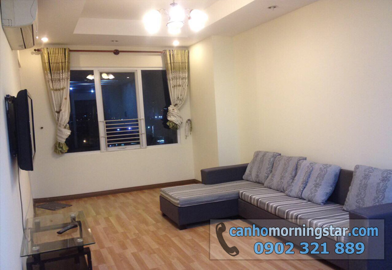 cho thuê căn hộ Morning Star quận Bình Thạnh 3PN - sofa phòng khách