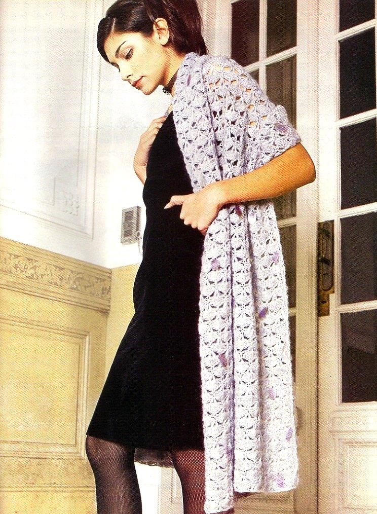 Encantador Los Patrones De Crochet Libre Para Chales Foto - Manta de ...