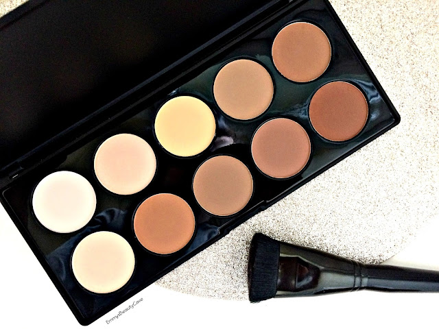 Crown Brush 10 Colour Contour Palette Review, Contour Kit for Pale Skin