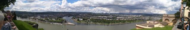 Bloggertreffen Koblenz: Aussicht und Panoramablick von der Festung Ehrenbreitstein
