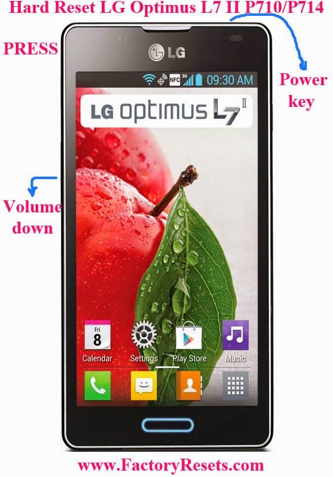 Hard Reset LG Optimus L7 II P710P714