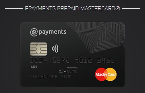 ePayments, prepaid, mastercard, карта
