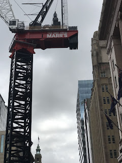 Men from Marr's crane in Martin Place, 2019
