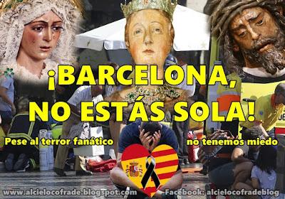 Barcelona sufre el ataque terrorista yihadista del DAESH, ISIS o Estado Islamico en la rambla