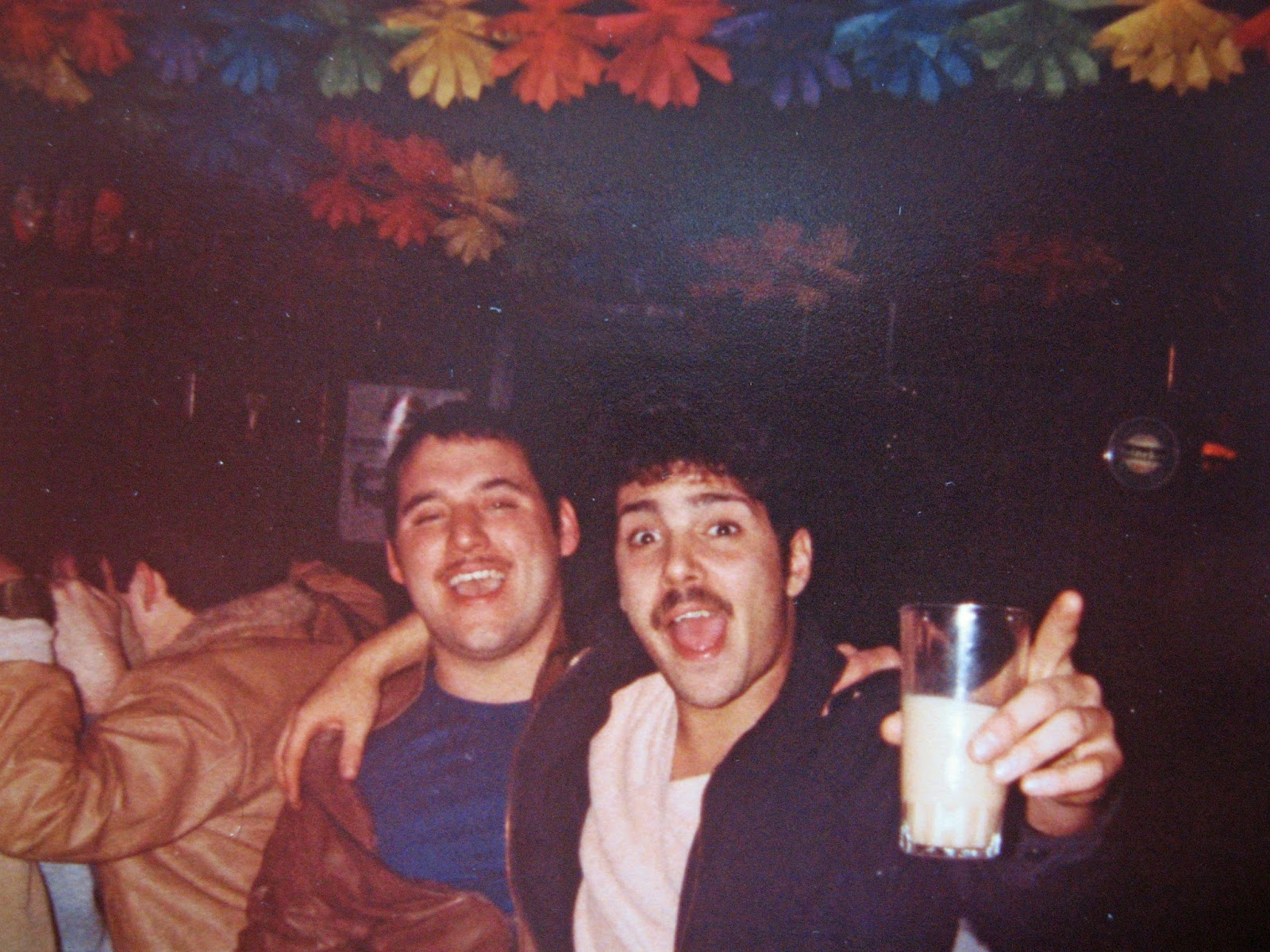2 crazy bastards these 2... awesome guys! Joe on the left and of course Cary on the right. February 1983