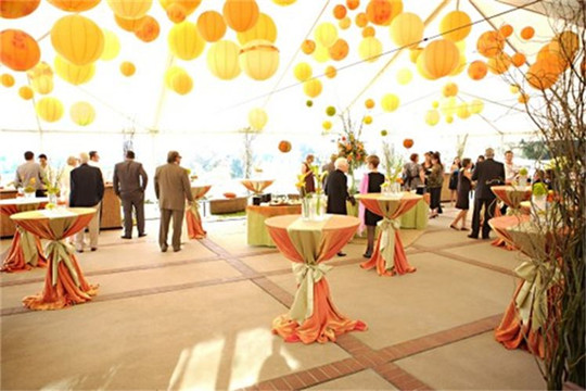 unique autumn cocktail wedding receptions