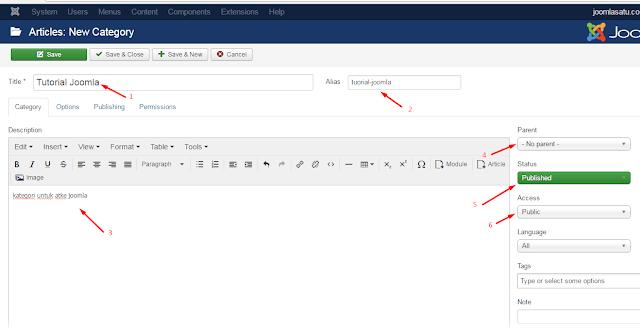 Cara Membuat Kategori di Joomla 3.X