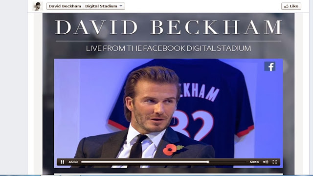 David Beckham book launch live from Facebook Digital Stadium