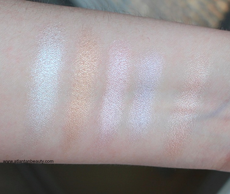 Tarte Rainbow Highlighter Swatches