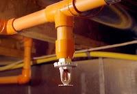 Exemple de canalisation d'une installation d'extinction automatique à eau