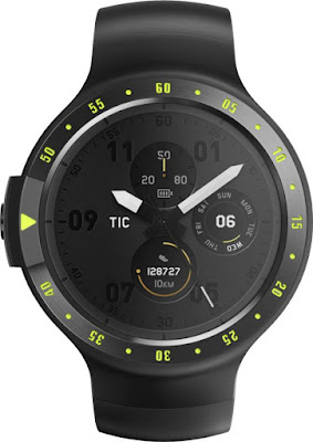 Ticwatch Android Smartwatch | Mobvoi Ticwatch Sport Knight Smartwatch (Black Strap Regular)
