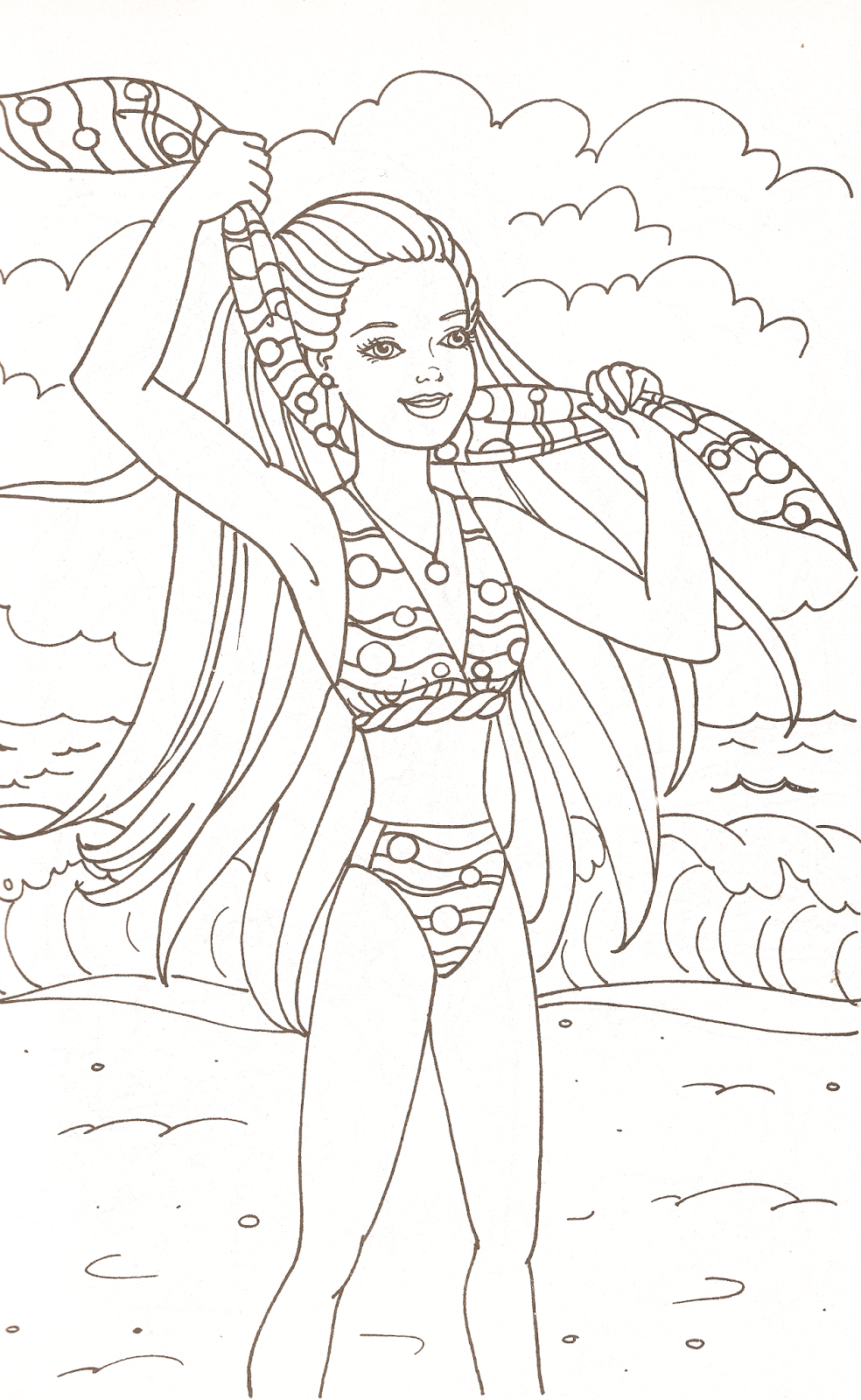 barbie coloring pages com - photo#49
