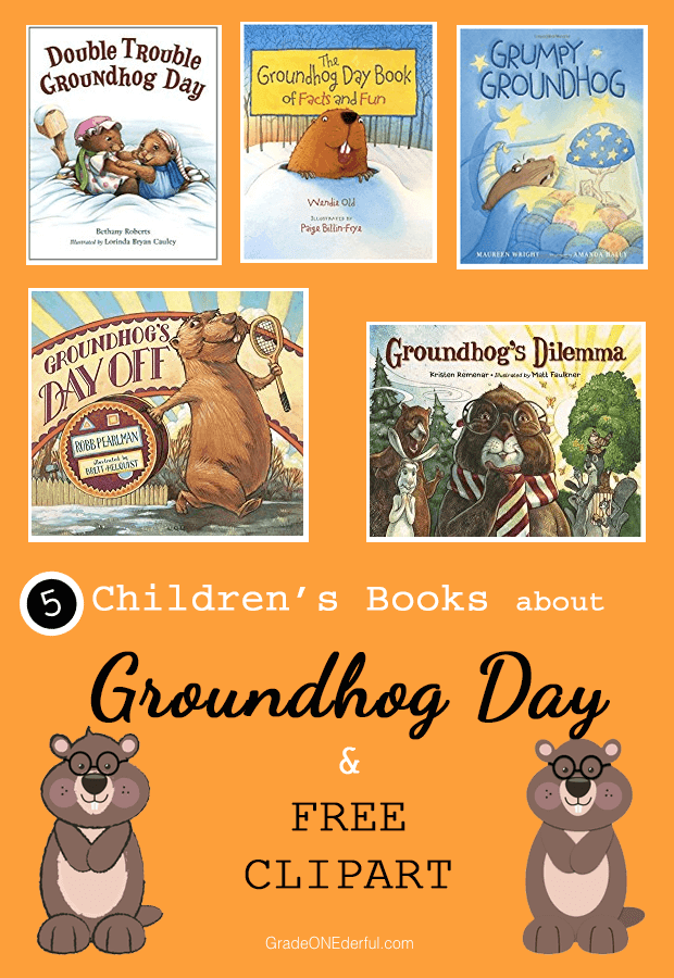Groundhog Day books for children and free clipart