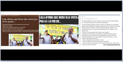 Boato diz que Lula ameaçou o juiz Sérgio Moro.