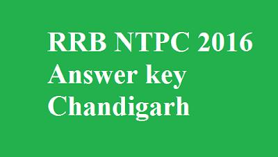 RRB NTPC Answer key Chandigarh