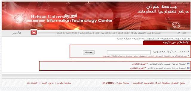 نتيجة كلية حقوق جامعة حلوان 2018