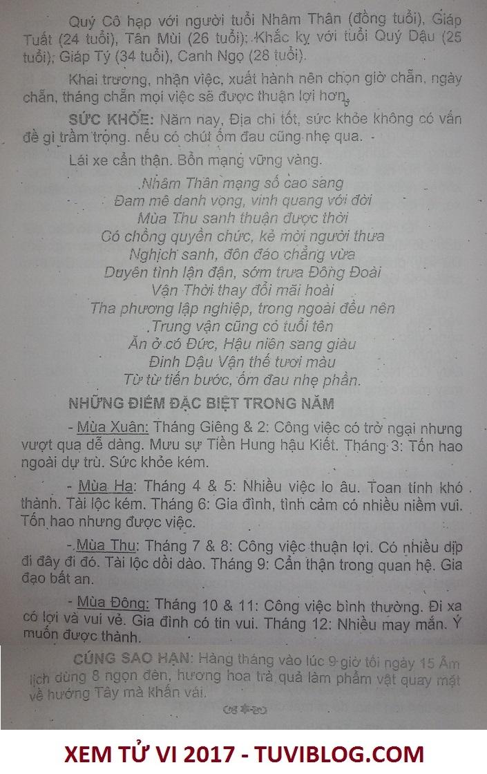 Xem tu vi tuoi Nham Than nam 2017