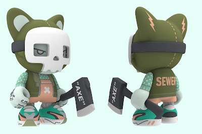 "Fashion Sewer SuperJanky 8"" Vinyl Figure by Guggimon x Superplastic"