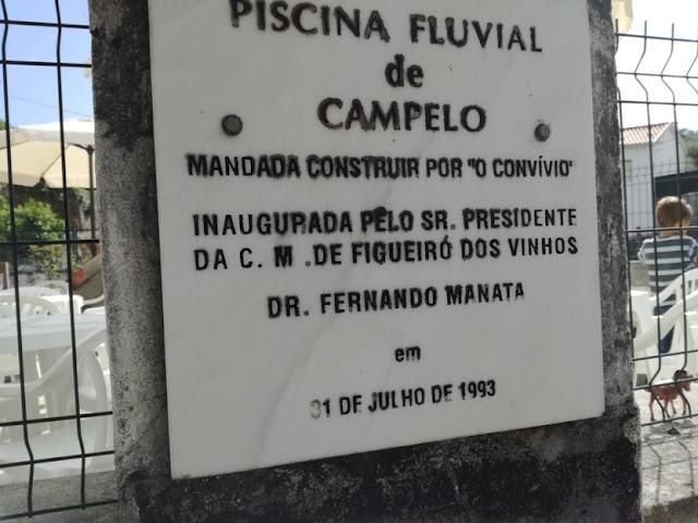 Placa da Piscina Fluvial de Campelo