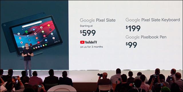 كل المنتجات التي تم الإعلان عنها فى مؤتمر Made by Google 2018 Google-Pixel-Slate-2