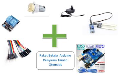 Paket Belajar Arduino Penyiram Taman Otomatis