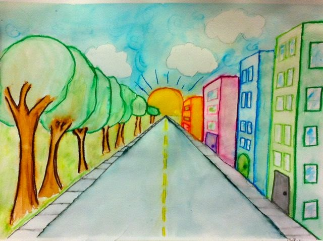 Room 101 Art One Point Perspective Ages 10 12